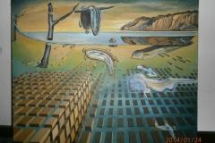 Копия картины Сальвадора Дали « Распад постоянства памяти». Холст, масло. Мастер Крис.