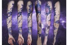 абстрактный космический рукав